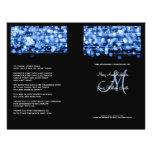 Elegant Wedding Program Party Sparkles Blue 21.5 Cm X 28 Cm Flyer