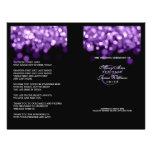 Elegant Wedding Program Purple Lights 21.5 Cm X 28 Cm Flyer