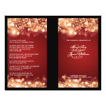 Elegant Wedding Program Sparkling Lights Gold Flyers
