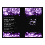 Elegant Wedding Program Sparkling Lights Purple Flyer Design