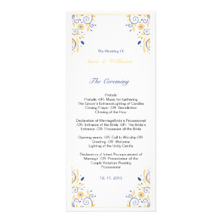 Elegant Wedding Program Template Rack Card Template