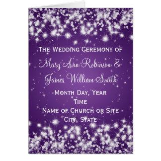 Elegant Wedding Program Winter Sparkle Purple