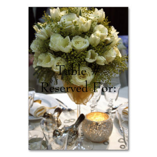 Elegant Wedding Reception Table # Cards Table Cards
