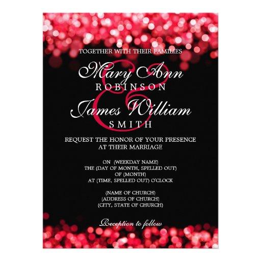 Elegant Wedding Red Lights Invitations