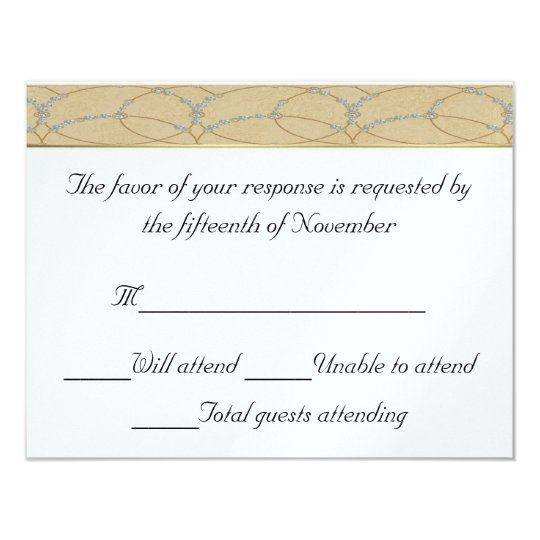 Elegant Wedding Response Card