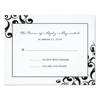 Elegant Wedding RSVP Cards Personalized Announcements