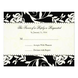 Elegant Wedding RSVP Cards Custom Announcement
