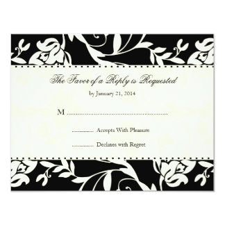 "Elegant Wedding RSVP Cards 4.25"" X 5.5"" Invitation Card"