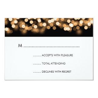 Elegant Wedding RSVP Gold Hollywood Glam 9 Cm X 13 Cm Invitation Card