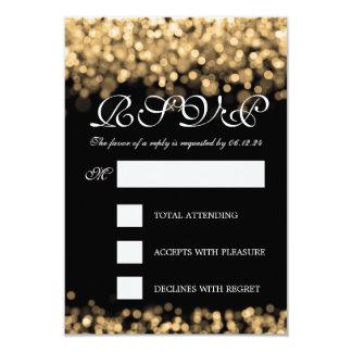 Elegant Wedding RSVP Gold Lights 9 Cm X 13 Cm Invitation Card