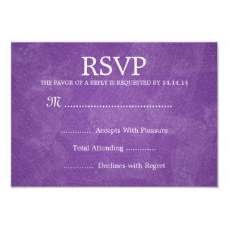 Elegant Wedding RSVP Romantic Paris Purple Card