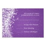 Elegant Wedding RSVP Sparkling Wave Purple 9 Cm X 13 Cm Invitation Card