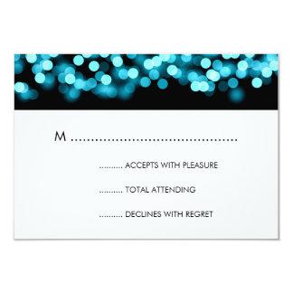 Elegant Wedding RSVP Turquoise Hollywood Glam 9 Cm X 13 Cm Invitation Card