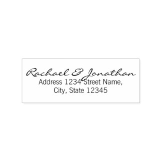 Elegant Wedding Rubber Stamp