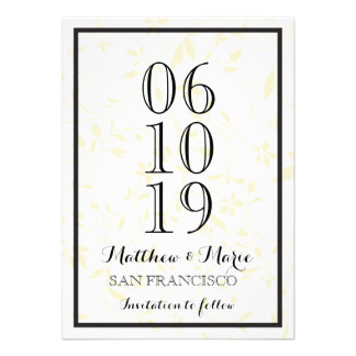 Elegant Wedding Save The Date Personalized Invitations