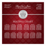 Elegant Wedding Seating Chart Royal Crown Red