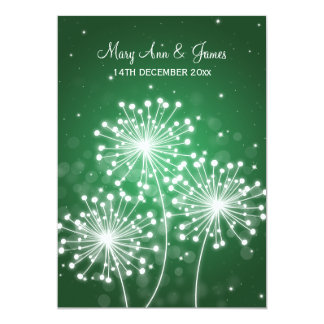 Elegant Wedding Summer Sparkle Emerald Green 13 Cm X 18 Cm Invitation Card