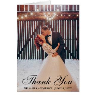 Elegant Wedding Thank You Bride Groom Photo Fold Card