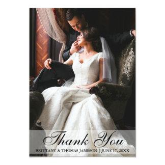 Elegant Wedding Thank You Photo Card