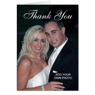Elegant Wedding Thank You Photo Cards
