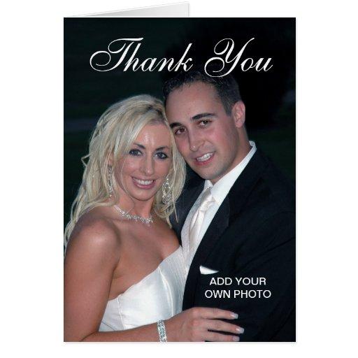 Elegant Wedding Thank You Photo Cards