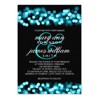 Elegant Wedding Turquoise Hollywood Glam 13 Cm X 18 Cm Invitation Card