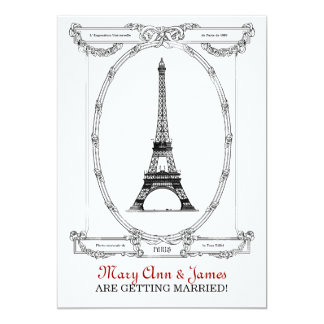 Elegant Wedding Vintage Paris Postcard