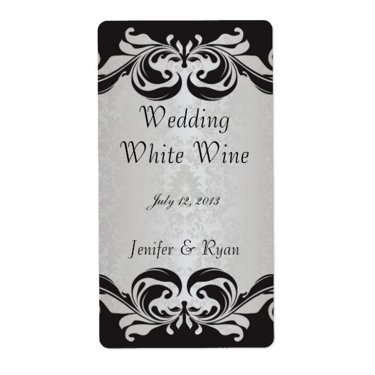 Elegant wedding wine label shipping label