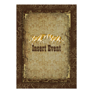 Elegant western horse ranch party invitations