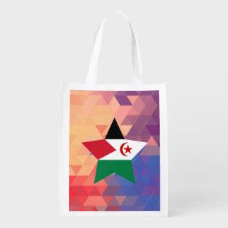 Elegant Western Sahara flag heart