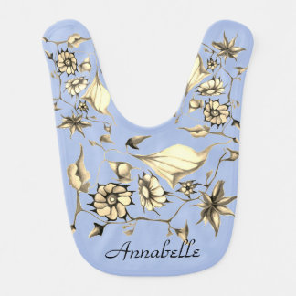 Elegant Whimsical Enchanting Exotic Sepia Blue Bib