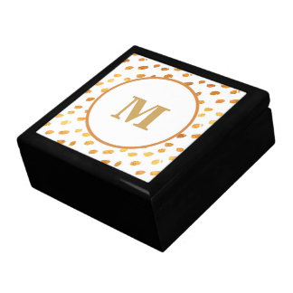 Elegant White and Gold Monogram Gift Box