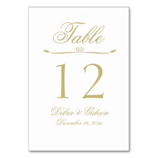 Elegant White and Gold Monogram Wedding Card