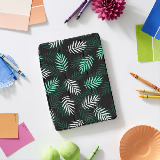 Elegant White and Green Palm Leaves iPad Air Case