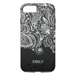 Elegant White & Black Floral Paisley Lace 2 iPhone 7 Case