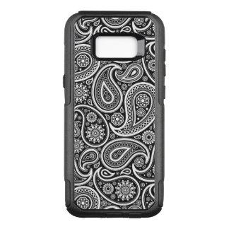 Elegant White & Black Vintage Paisley Pattern OtterBox Commuter Samsung Galaxy S8+ Case
