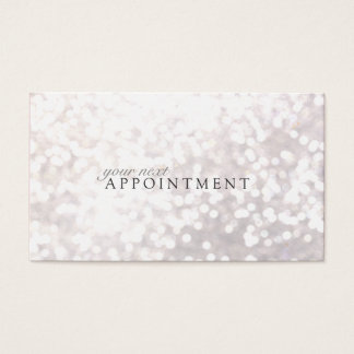 Elegant White Bokeh Appointment Card