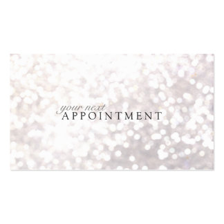 Elegant White Bokeh Appointment Card Pack Of Standard Business Cards
