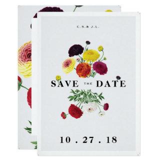 Elegant White Botanical Save the Date Card