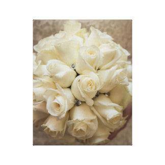 Elegant White Bridal Bouquet Canvas Print