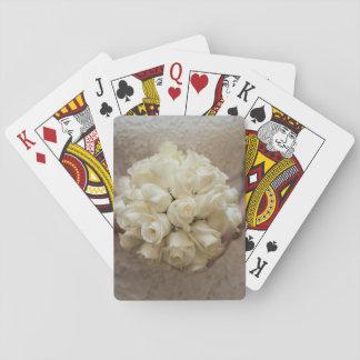 Elegant White Bridal Bouquet Playing Cards
