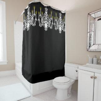 Elegant, White Chandelier, Custom Shower Curtain
