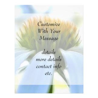 Elegant White Coneflower Custom Flyer
