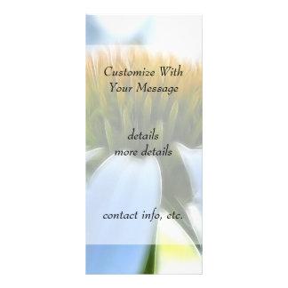 Elegant White Coneflower Rack Card Design