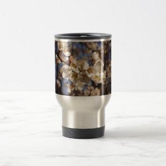 Elegant White Dogwoods Art Stainless Steel Travel Mug