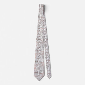 Elegant white faux rose gold modern marble tie
