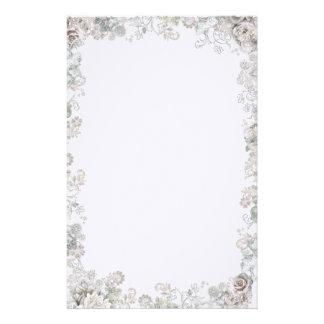 Elegant White Flowers Personalised Stationery
