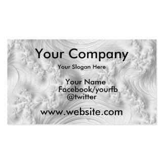 Elegant White Fractal Business Card