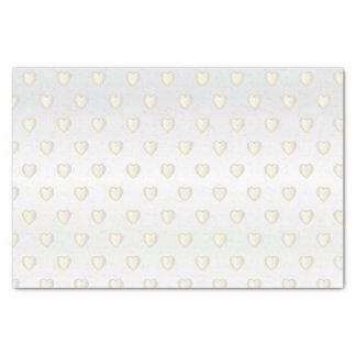Elegant White Gold and Satin Diamond Hearts Tissue Paper