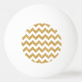 Elegant White Gold Glitter Zigzag Chevron Pattern